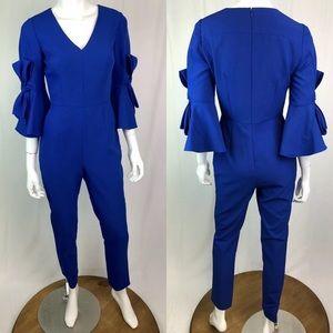 ANTONIO MELANI Pants - Antonio Melani Bell Bow Sleeve Tailored Jumpsuit